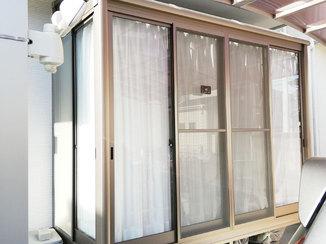 エクステリアリフォーム 雨の日や花粉の多い日でも洗濯物を干せるサンルーム