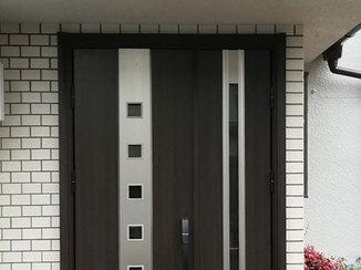 エクステリアリフォーム 扉の低さを解消し、出入りしやすくなった玄関ドア
