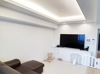 マンションリフォーム 折り上げ天井がかっこいい、清潔感と高級感のあるお部屋