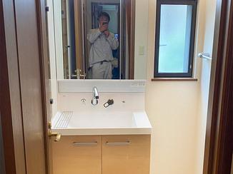 洗面リフォーム ひろびろ使い勝手の良い明るい洗面所